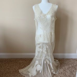 Newport News sheer lace dress with sequins #60